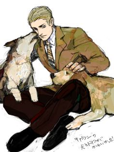 Germany/Ludwig Beilschmidt and his dogs. Hetalia Germany, Germany And Prussia, Hetalia Anime, Hetalia Fanart, Me Me Me Anime, Anime Guys, Hetalia Characters, Fictional Characters, Avatar