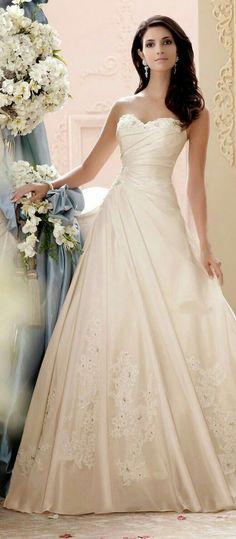 Resultado de imagen para vestidos de novia de color champagne