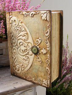 GREAT CIGAR BOX idea! deququ decoupage: Księga ślubna - reliefy