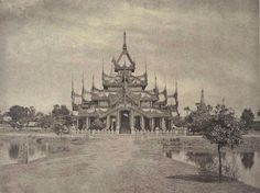 Royal court hall Amarapura c1880.