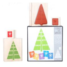 SALE Yellow Owl Workshop Christmas Tree Rubber Stamp by OHMYBUY, £9.95
