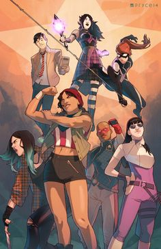 YOUNG AVENGERS - Dream Roster by Pryce14 on DeviantArt
