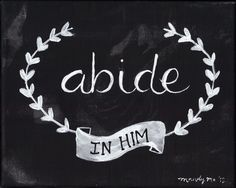 abide in HIM. Follow me on Instagram for bible verses:) RemaJoy