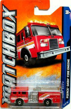 Matchbox 2012 PIERCE DASH Fire Engine MBX City #8/10 Red MBX Super City Fire Dep #Matchbox #Pierce
