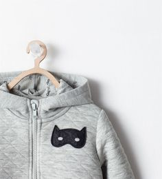 ZARA - NEW THIS WEEK - HOODED SWEATSHIRT WITH APPLIQUE