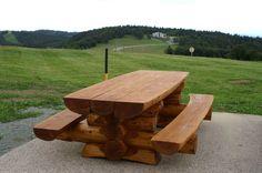 Table banc sur 2 pieds
