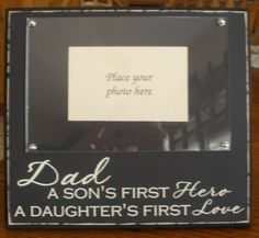 Another father's day idea. For my daddy with a pic of all of us kids