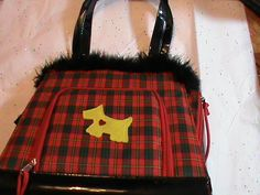 'Fashion Vintage Retro Scottie Dog Plaid Purse/ feathers' is going up for auction at 10am Mon, Jun 17 with a starting bid of $10.