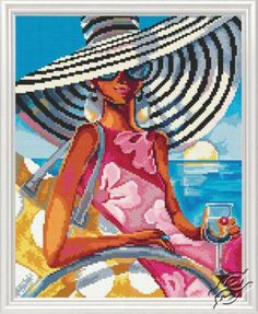 Glamorous Woman in Fabulous Places VII - Cross Stitch Kits by RTO - M472