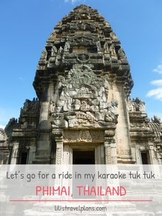 HOP ON BABY, LET'S GO FOR A RIDE IN MY KARAOKE TUK TUK - Off the beaten path in Phimai, Thailand