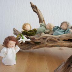 Root kinderen in tinten groen voor de natuur-tabel door FamilleVerte