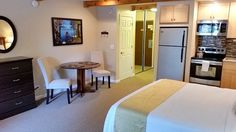 98-118/nite Aston Lakland Village 5 min walk to wedding site. Lakeland Village Vacation Rental - VRBO 504812 - 0 BR South Lake Tahoe Condo in CA, Lakeland Village - Deluxe King Studio Tree View - South Lake Tahoe