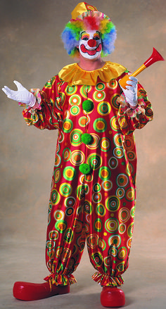 Jack the Jolly Clown Circus Joker Birthday Party Funny Mens Costume Plus Size