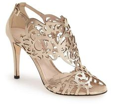 Klub Nico 'Marcela' Laser Cutout Sandal (Women) available at Stiletto Shoes, High Heels Stilettos, Prom Shoes, Wedding Shoes, Bridal Shoes, Cute Shoes, Me Too Shoes, Champagne Shoes, Off White Shoes