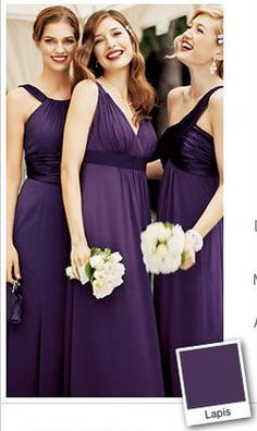 GOAL: NEED TO LOOK GOOD IN DRESS!!!!!  The Search Through the Rainbow of Purples :  wedding bridesmaid dress purple Lapis