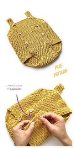 Knit Baby Romper Free Knitting Patterns - How To Knit for Beginners 2020 Baby Boy Knitting Patterns Free, Baby Romper Pattern Free, Baby Bloomers Pattern, Baby Booties Knitting Pattern, Knit Baby Booties, Baby Clothes Patterns, Baby Patterns, Free Knitting, Crochet Baby Bloomers