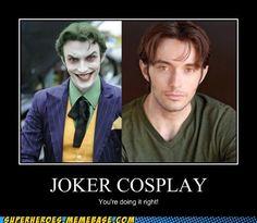 the joker cosplay | Joker Cosplay - Cheezburger