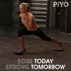 Soreness is you improving! http://www.onesteptoweightloss.com/piyo-workout-results #PiYoWorkoutResults