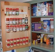 These spice clips are probably the best storage solution I've seen!  I'll be ordering some!  (and I love how I found them on an RV upgrade site...  haha!)