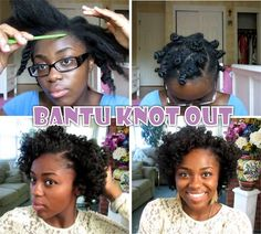 A post about how to do a Bantu Knot Out on 4c natural hair with tips on how to get the best results. www.blackhairinfo...