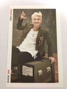 K-Pop BTS Bangtan Boys Rap Monster Photo Card #1 Red Bullet Concert Official MD