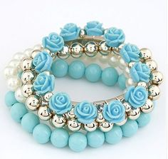 Preorder: Tiffany Blue  Multilayer Beaded by TimelessBeautyStore