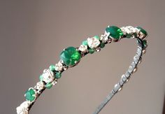 Green Opal Swarovski silver headbandwedding by ZTetyana on Etsy