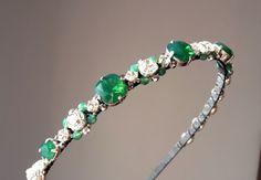 Green Opal Swarovski silver headbandwedding by ZTetyana on Etsy