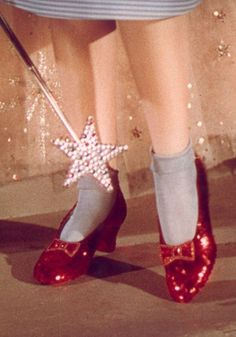 """The Wizard of Oz""  (1939) Dorothy's (Judy Garland) Ruby Slippers in the the ""There is no place like home"" scene"