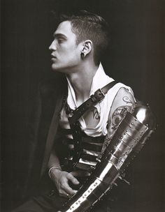 hes not that hot but the picture reminds me of the theme, A Knight in Shining Armour