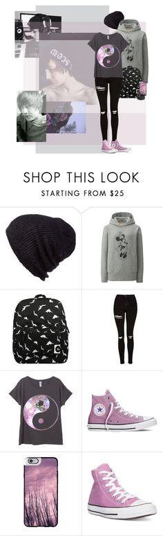 """""""Day Out With Jeydon Wale"""" by elmoknowswhereyoulive ❤ liked on Polyvore featuring Coal, Uniqlo, Forever 21, Topshop, Converse, Casetify and Frye"""