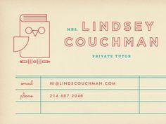 Substitute teacher business cards // PRINTABLE | Creative ...