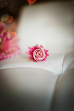gerber and rose boutonniere Perfect Petals Design, Atlanta Wedding Flowers, Bridal Bouquets, Decor, lounge furniture, Specialty chairs, linens, Grace Ormonde Platinum List. Wedding Florist in Atlanta, PERFECT PETALS FLORIST - Personal Flora