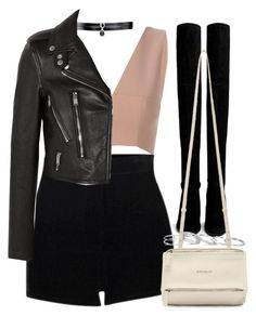 """Style #11275"" by vany-alvarado ❤ liked on Polyvore featuring Fallon, T By Alexander Wang, Yves Saint Laurent, Stuart Weitzman, Kendra Scott and Givenchy"