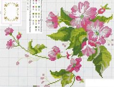 This Pin was discovered by Sev Cross Stitch Love, Cross Stitch Pictures, Cross Stitch Borders, Cross Stitch Flowers, Cross Stitch Charts, Cross Stitching, Cross Stitch Embroidery, Hand Embroidery, Cross Stitch Patterns