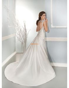 ba2eb6a0f5b4 2014 A Line Beads Sleeveless Lace Satin Wedding Dresses Bridal Gowns rs  Online Shop