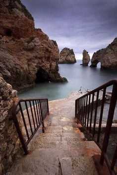 Steps to the Sea, Algarve, Portugal photo via shannon. Portugal, one of my favorites. Places Around The World, Oh The Places You'll Go, Places To Travel, Travel Destinations, Around The Worlds, Vacation Travel, Travel Europe, European Travel, Holiday Destinations