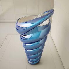 Sculptural Spiral Sinks : spiral sink