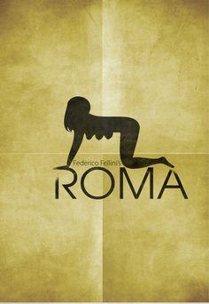 Roma (1972) ~ Minimal Movie Poster by Zoki Cardula ~ Fellini Series #amusementphile