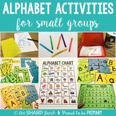 Alphabet activities for small groups by One Sharp Bunch