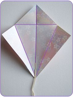 kite step1 Easy Kids Craft: Origami Kites