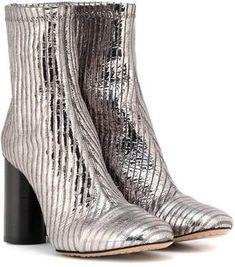 cf47806456ee Isabel Marant Rillyan metallic leather ankle boots Leather Ankle Boots