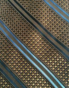 NWT - JOS A BANK Mens Brown Textured Weave Striped 100% Silk Neck Tie Tie  #JosABank #NeckTie