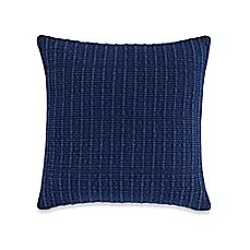 image of Kenneth Cole New York Fleur Textured Stripe Throw Pillow in Blue