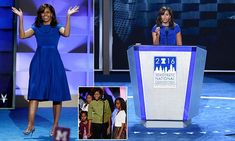 """Moochelle mooing again at DNC - says 'I'm with her' in """"rousing"""" speech backing Killary. Well, birds of a feather and all that. Should have read """"Traitor-in-chief's wife backs murdering criminal"""" Pack Up And Go, Jill Biden, Democratic National Convention, Michelle Obama, Our Girl, Current Events, That Way, Role Models, Donald Trump"""