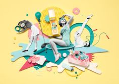 A series of images for 'Pore Me!' campaign advertising Benefit Cosmetics company's POREfessional range.