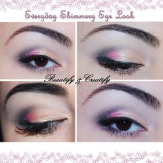 everyday shimmery spring makeup look