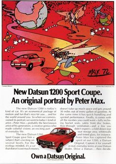 Peter Max for Datsun 1973