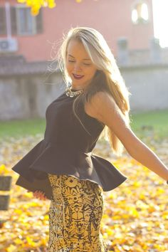 @roressclothes clothing ideas #women fashion black top Fashion in Baroque Style