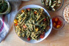 pasta with pesto genovese – smitten kitchen Smitten Kitchen, Pesto Pasta, Soul Food, Dinner, Cooking, Recipes, Dining, Dinners, Kochen